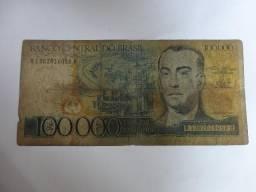 Cédula Antiga De 100.000 Cruzeiros Juscelino Sem Carimbo