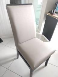 Conjunto 4 cadeiras impermeáveis em estado novo
