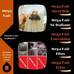 Mega Hair Profissional aqui no Instituto de Beleza Faby do Carmo
