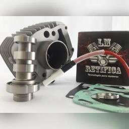 Kit Motor Biz Pop 100 05/08 Preparado(1mm) + Comando Bravo Wgk