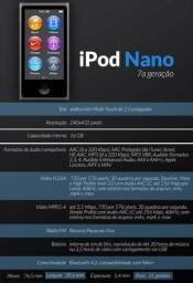 Ipod Nano 16 Gb touch semi novo 7a geração - Apple