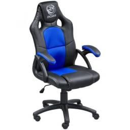 Cadeira Gamer Mad Racer V6 Azul Pcyes Top de linha em promoção