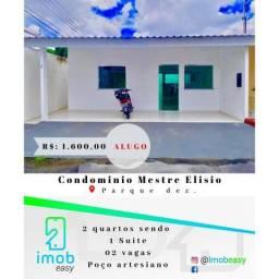 Alugo Condominio mestre elisio 2 quartos sendo 1 suite ( parque dez )