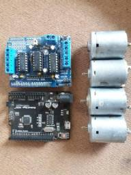 Kit Arduino Uno + Motor Shield + 4 Motores