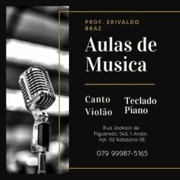 Aulas de Teclado, Violão, Canto