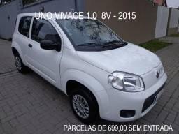 Fiat Uno Vivace 2015 Financia 100% parcela 699,00 - 2015