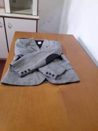 Casaco de lã preto e branco