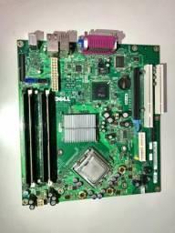 Vendo placa mãe desktop Dell Ls-36 com processador Pentium Dual Core e memória de 2 Gb