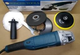 Politriz Lixadeira Hobby 125mm 110v 1050w Nova com Acessorios