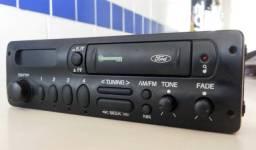 Rádio Fordline Am + Fm + Toca Fitas Funcionando