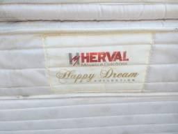 """""""Cama box de casal tamanho padrão, Herval, com colchão de molas ensacadas,"""