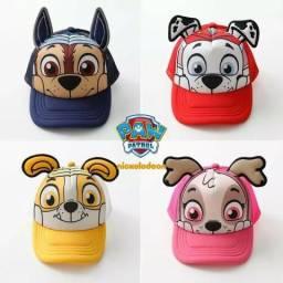 Bonés infantis Patrulha Canina - Originais Nickelodeon