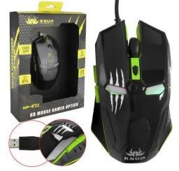 Mouse Gamer Com Fio De Nylon 2400 Dpi