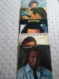 5 discos de vinil Júlio Iglesias