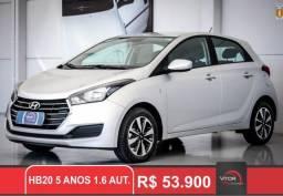 Hyundai HB20 5 Anos 1.6 Flex 16V Aut. 2018 Flex