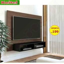 Título do anúncio: Painel P/ Tv Flash - Amêndoa / Preto