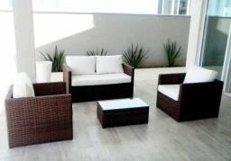 Conjunto de sofa fibra sintetica novo