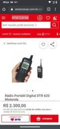 Rádio Comunicador Portátil Digital Motorola DTR 620