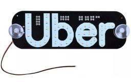 Placa Letreiro Luminoso Led Uber Usb Painel 2 Ventosas