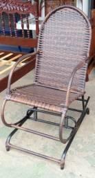Cadeira de Balanço p/ Área - Toda revestida com fibras
