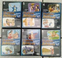 6 DVDs Infantis Cristãos Histórias Bíblicas
