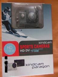 """Câmera Esportiva Kindcam Explorer Paragon Preto,até 30m de profundidade a prova dágua"""""""