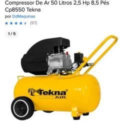 Compressor De Ar 50 Litros 2,5 Hp 8,5 Pés Cp8550 Tekna