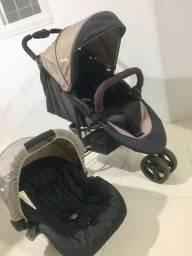 Carrinho e bebê conforto whoop 3 rodas