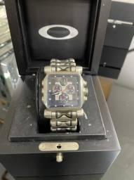 Relogio Oaklley Minute Machine Diamond Black