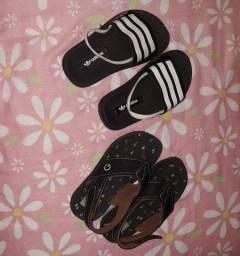 Kit com 3 Sapatos infantil semi novos