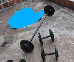 Kit musculação artesanal de ferro