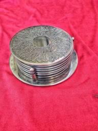 Porta Copos em prata