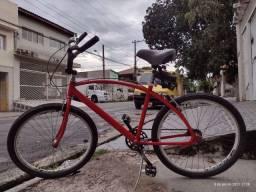 Bicicleta caiçara de alumínio aro 26