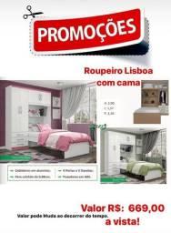 Guarda roupas Lisboa com cama, liquidação!!!