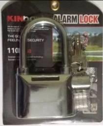 Cadeado Com Alarme  Sonoro Blindado Aço Anti-furto Prova de Agua Original