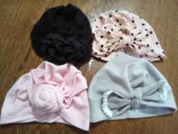 Turbantes para bebê (4 peças)