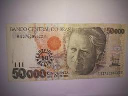 Cédula Antiga Cruzeiros Reais/Nota/Dinheiro/Raridade/Colecionadores