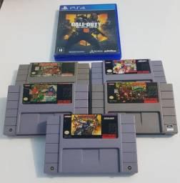 Vendo jogos originais de super Nintendo