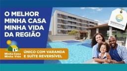 Residence club Dr Moacir Andre Gomes, em Dois Carneiros, 2 qts + varanda, ult unidades