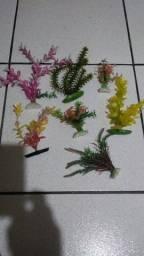 Planta artificial pra aquário.