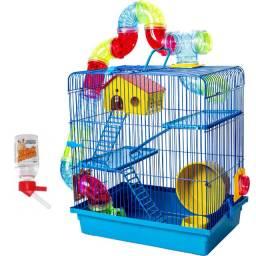 Gaiola Azul para Hamster Nova