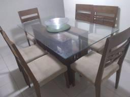 Mesa pra cozinha com 6 cadeiras