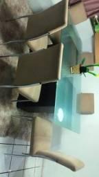 Mesa de vidro .