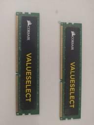 2 Memórias 4gb DDR3 Corsair Valueselect