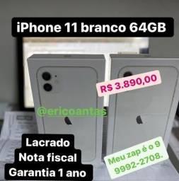 iPhone 11 branco de 64GB Lacrado