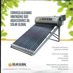 Aquecedor solar 15 tubos a vacuo