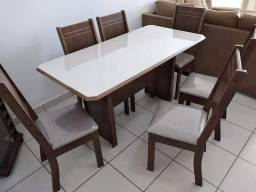 Mesa de Jantar 6 Cadeiras New Charm - Entregamos e montamos na hora
