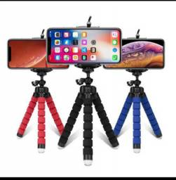 Mini tripe flexivel + suporte de celular