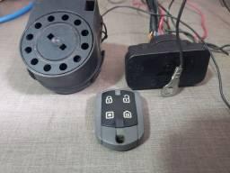 Alarme positron com sensor de presença para moto