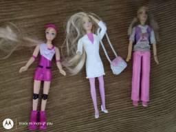 3 Barbie pequena + Boneca + Polly Original